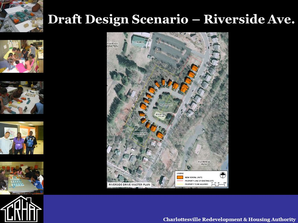 Charlottesville Redevelopment & Housing Authority Draft Design Scenario – Riverside Ave.