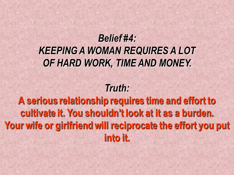 Belief #3: WOMEN ONLY WANT TO CONTROL MEN. Truth: It's not about control; it's about love. When a woman sees a man hurting, struggling or overwhelmed,