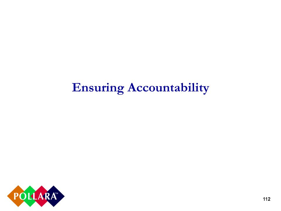 112 Ensuring Accountability