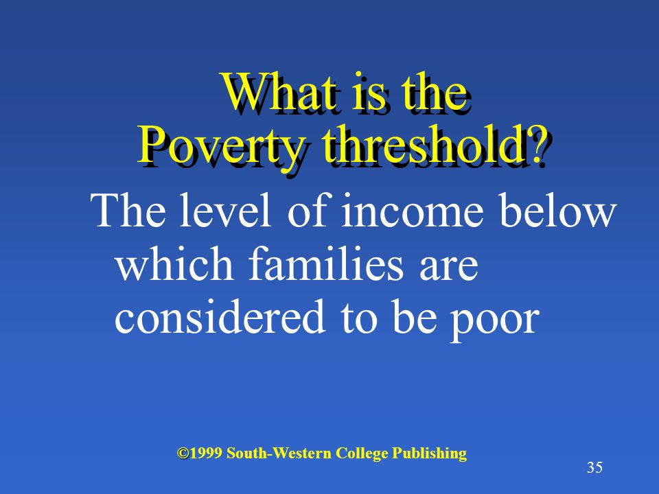 34 Measuring poverty: relative or absolute measures.