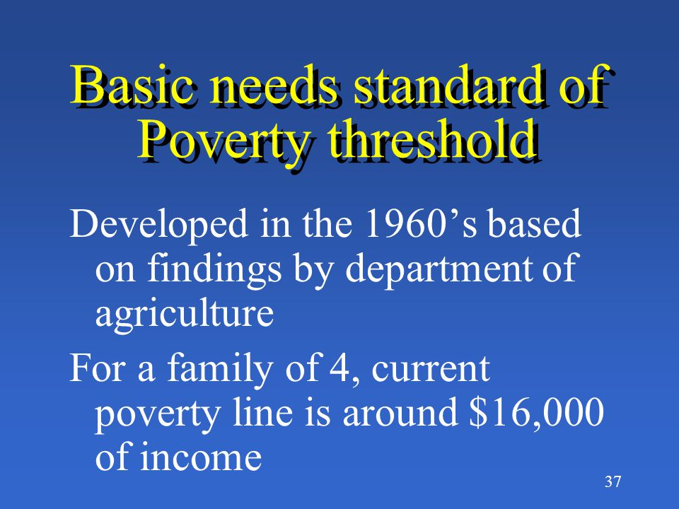 36 How do we define Poverty.