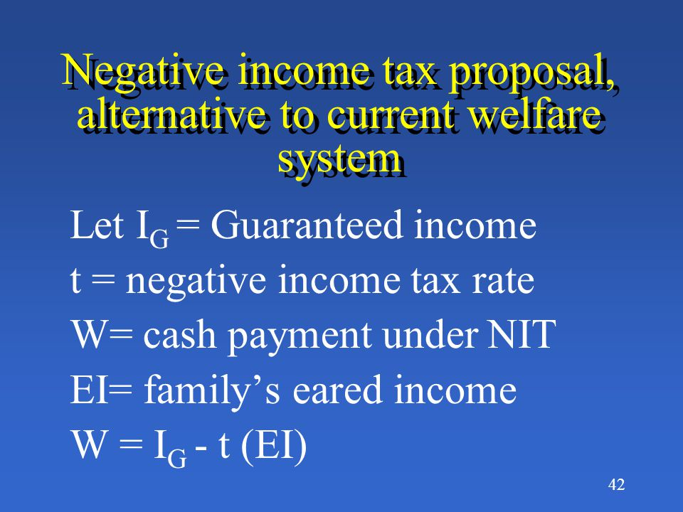 41 What is the Negative Income Tax.