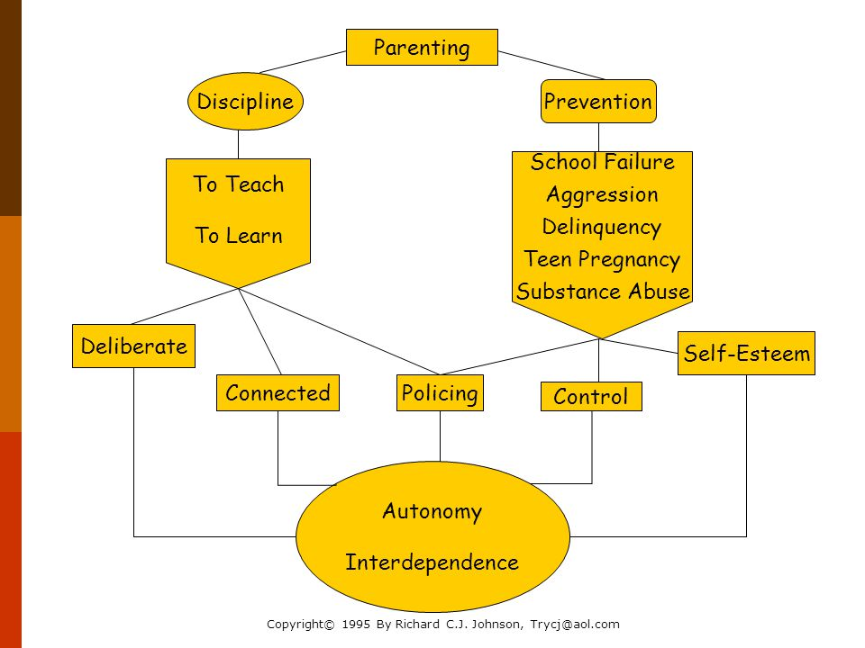 Parenting Discipline Prevention To Teach To Learn School Failure Aggression Delinquency Teen Pregnancy Substance Abuse Control Self-Esteem PolicingConnected Deliberate Autonomy Interdependence