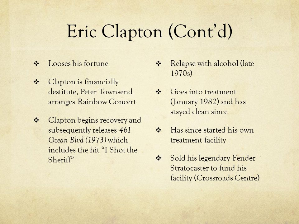 Eric Clapton  Why we picked him.