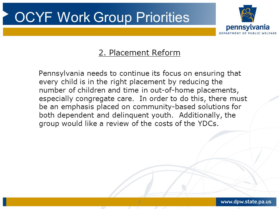 Waiver Design Requirements A waiver would offer Pennsylvania the opportunity to use Title IV-E funding as a source of flexible spending on efforts which meet the waiver goals designated in the Title IV-E waiver legislation.