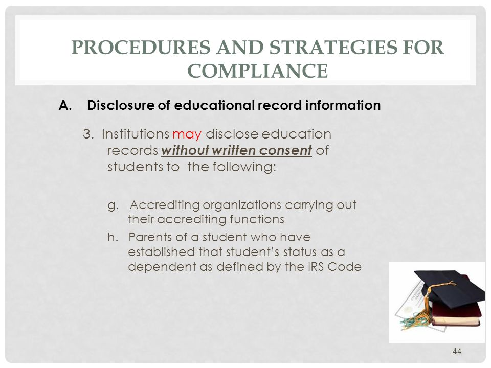 PROCEDURES AND STRATEGIES FOR COMPLIANCE 3.