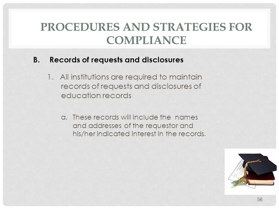 PROCEDURES AND STRATEGIES FOR COMPLIANCE 2.