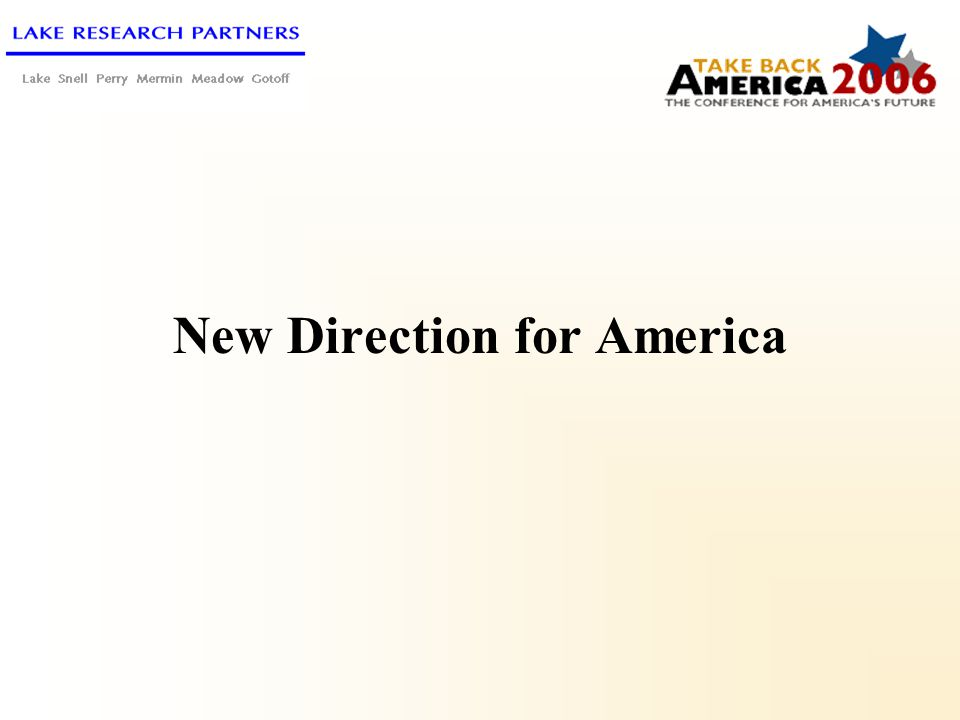 New Direction for America