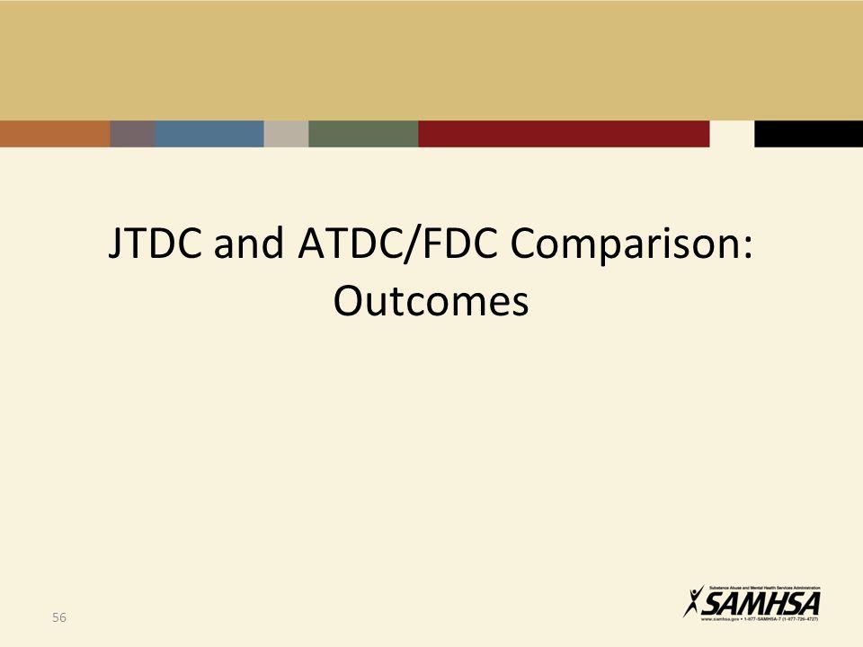 56 JTDC and ATDC/FDC Comparison: Outcomes