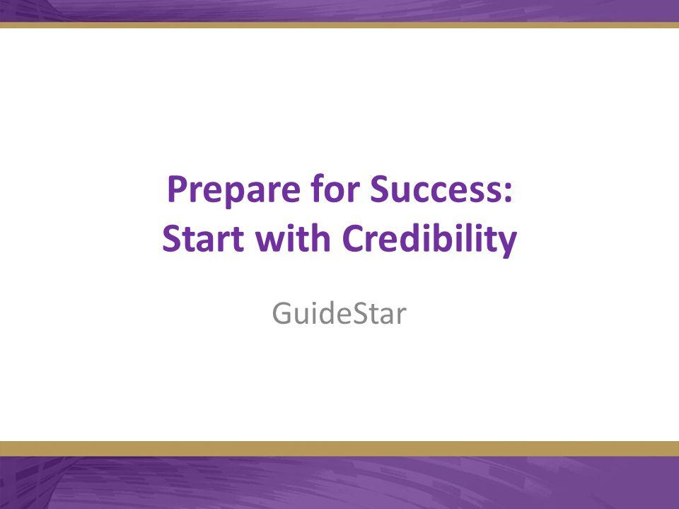 Prepare for Success: Start with Credibility GuideStar