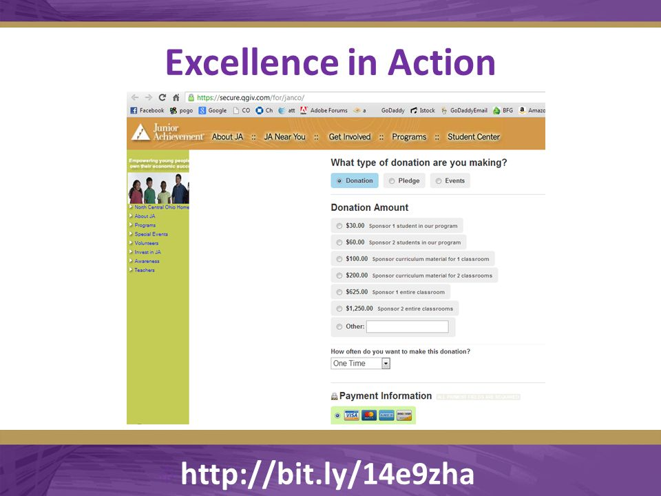 Excellence in Action  http://bit.ly/14e9zha