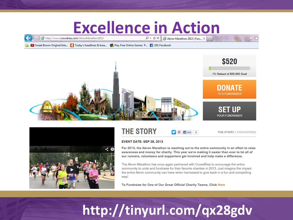 Excellence in Action  http://tinyurl.com/qx28gdv