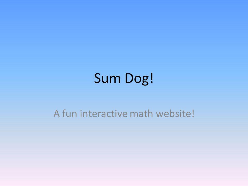 Sum Dog! A fun interactive math website!