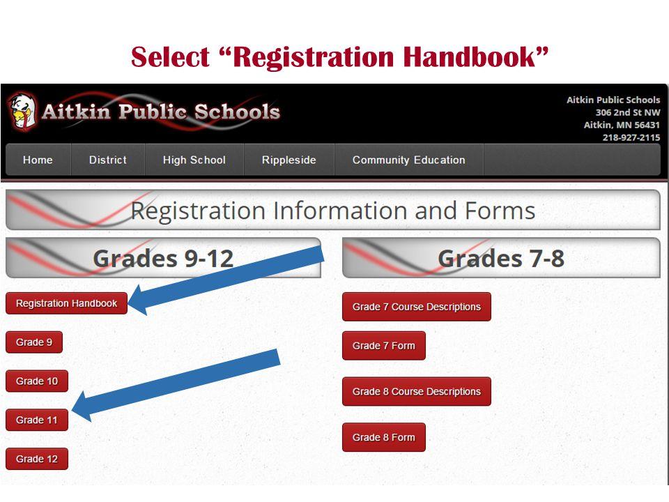 Select Registration Handbook