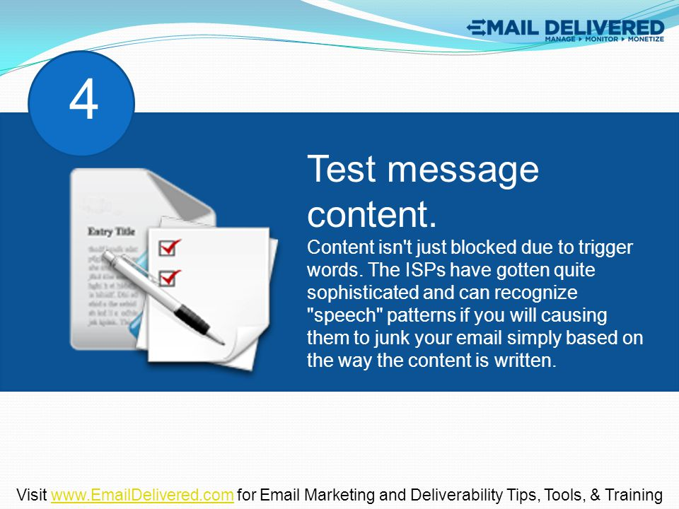 Test message content. Content isn t just blocked due to trigger words.