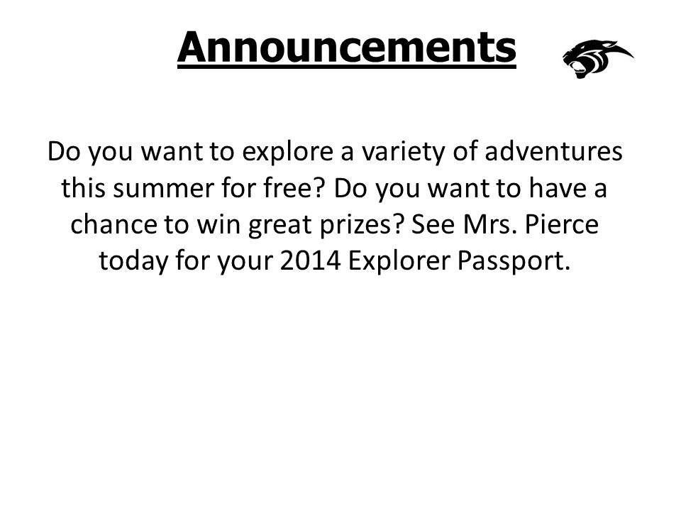 Announcements Do you want to explore a variety of adventures this summer for free.