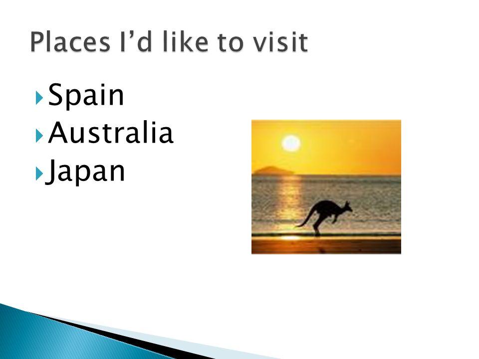  Spain  Australia  Japan