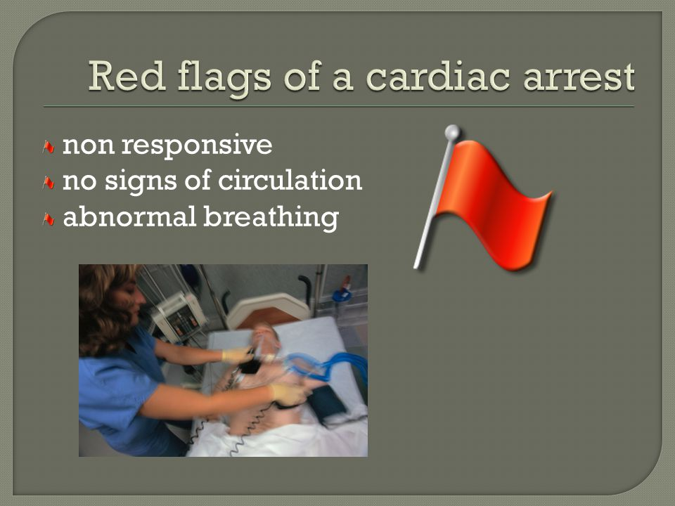 non responsive no signs of circulation abnormal breathing