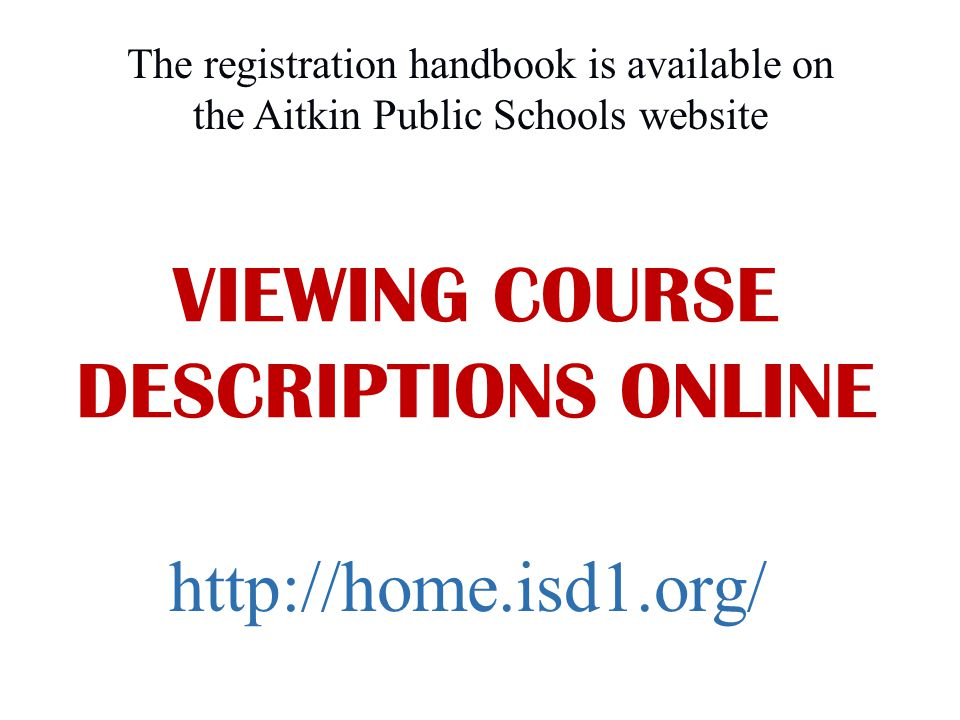 Go to High School – Guidance Office Registration Information and Forms tab.