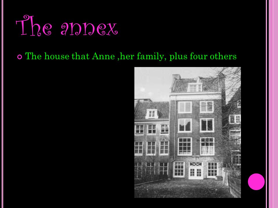 The family s that were with Anne and her family