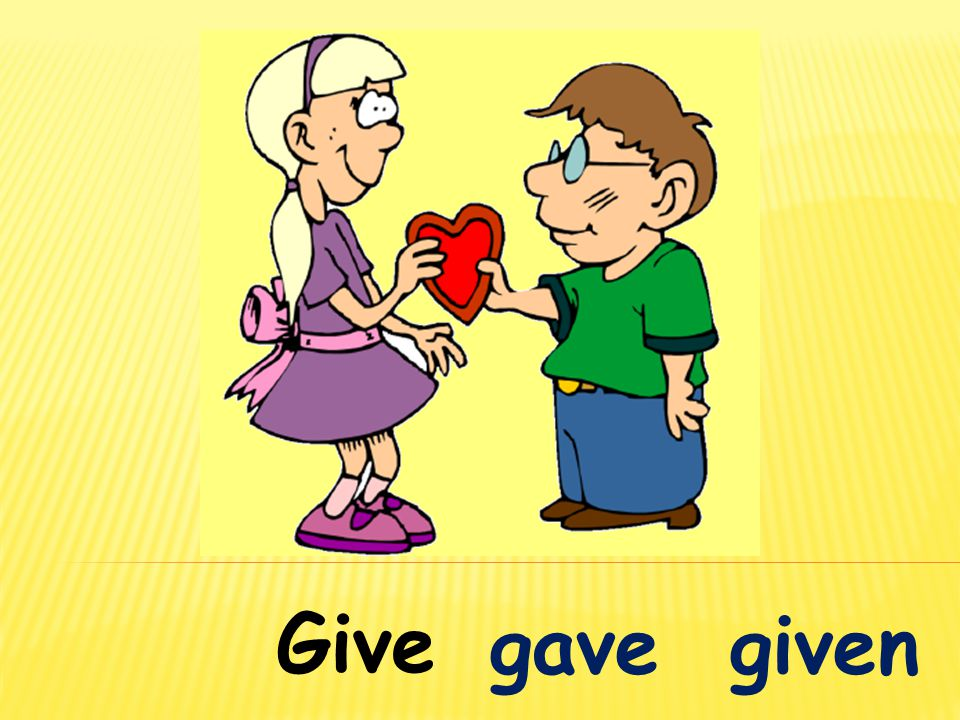 Give gave given