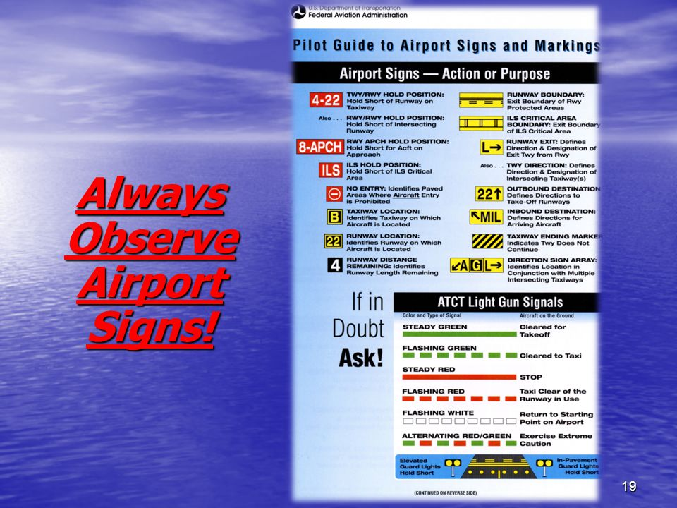 19 Always Observe Airport Signs!