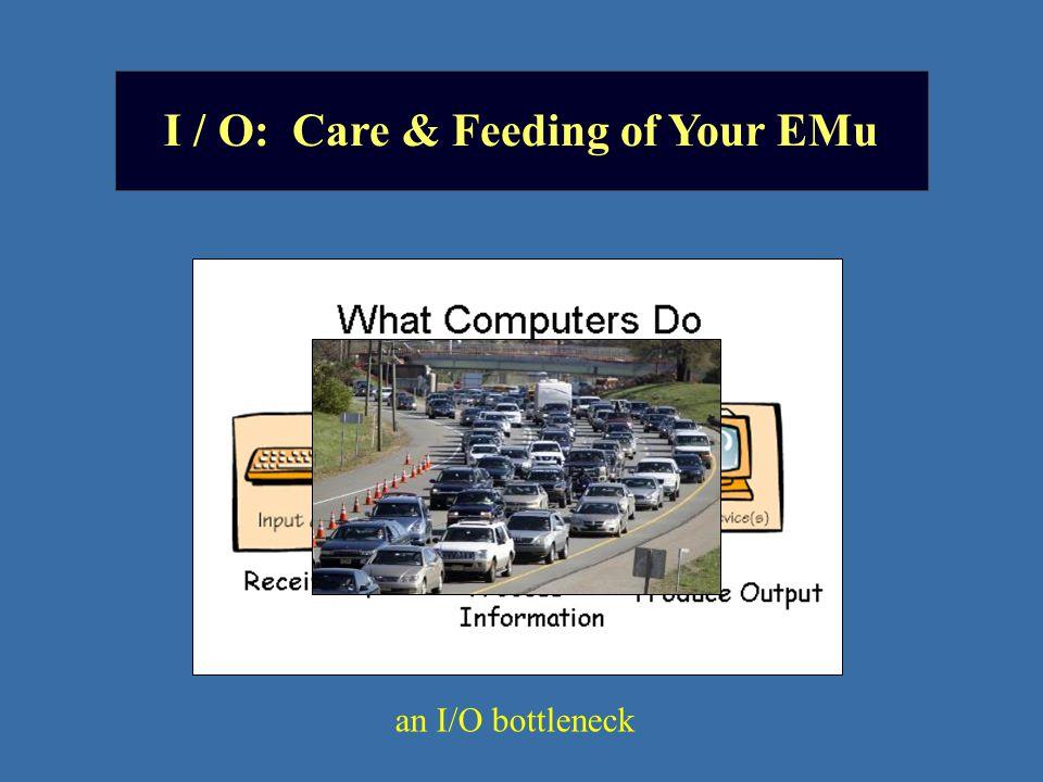I / O: Care & Feeding of Your EMu an I/O bottleneck