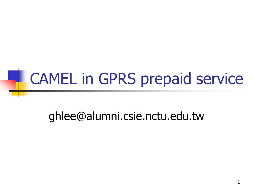 2 Outline Evolution of IN GPRS overview CAMEL in GPRS Discussion