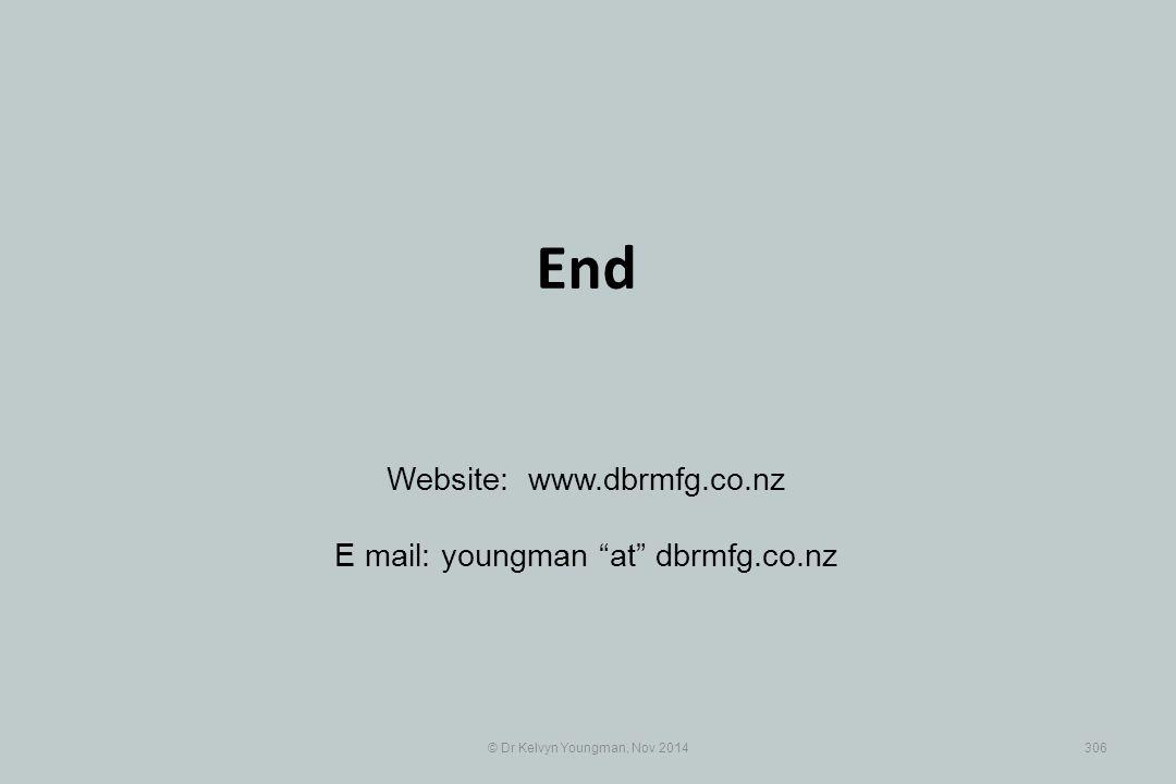 "© Dr Kelvyn Youngman, Nov 2014306 End Website: www.dbrmfg.co.nz E mail: youngman ""at"" dbrmfg.co.nz"