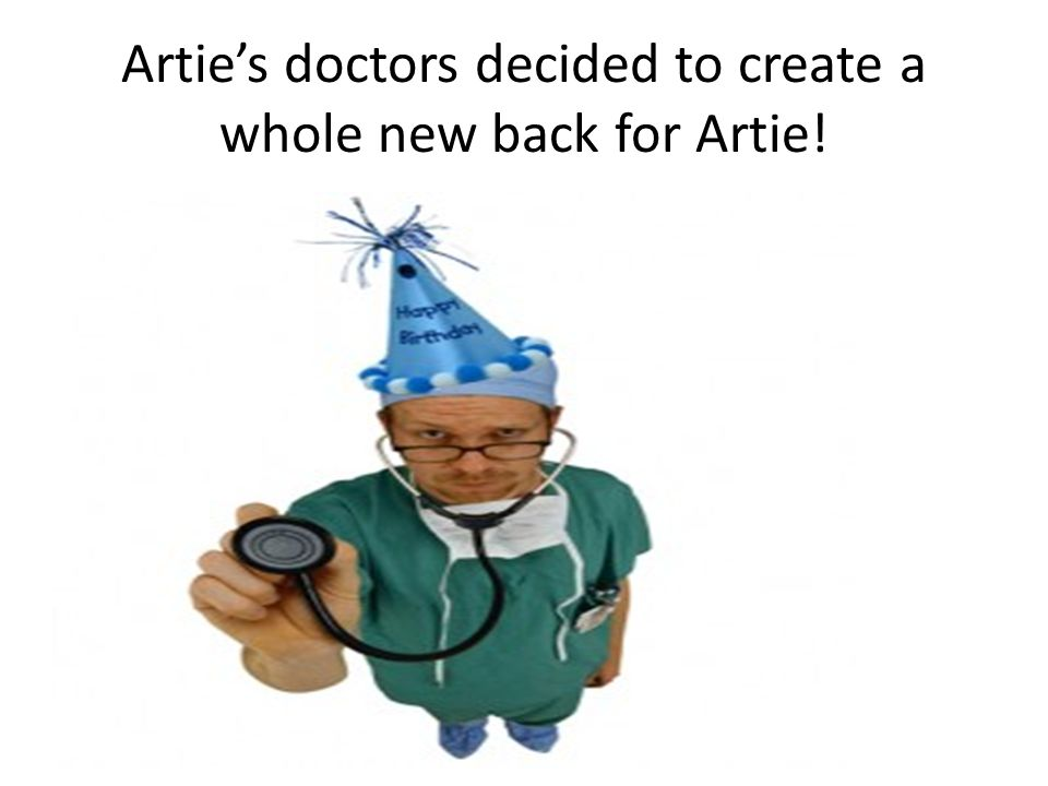 Artie's one- humped back was broken and had all kinds of problems! He needed to go to the doctor in Philadelphia to get it fixed! The vet was not sure