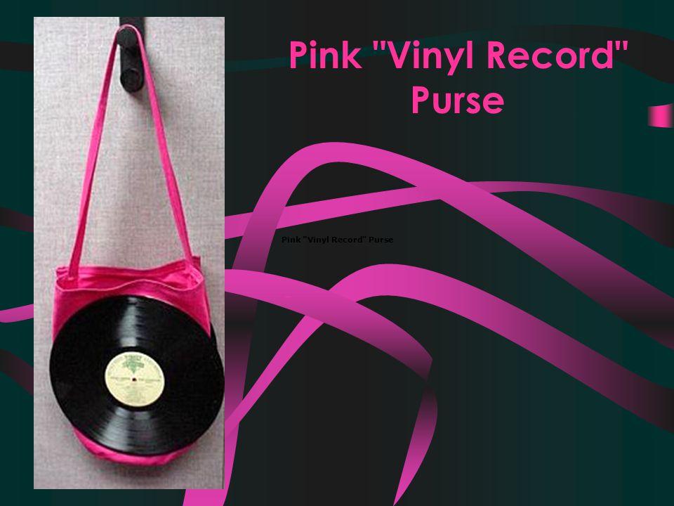 Pink Vinyl Record Purse