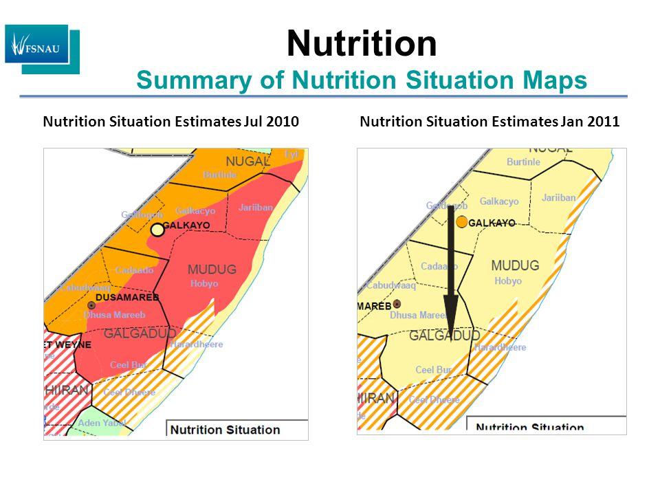 Nutrition Situation Estimates Jan 2011Nutrition Situation Estimates Jul 2010 Nutrition Summary of Nutrition Situation Maps