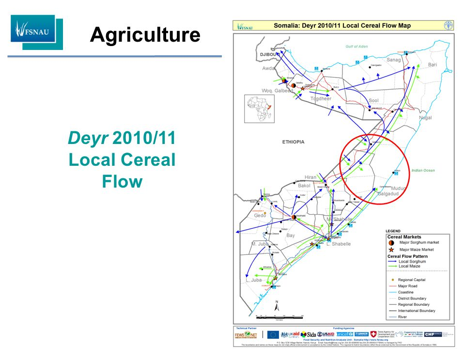 Agriculture Regional Trends in Cereal Prices & Terms of Trade Regional Trend in Cereal Prices (Sorghum) Regional Trends in Terms of Trade: ( 5kg of sorghum /daily wage)