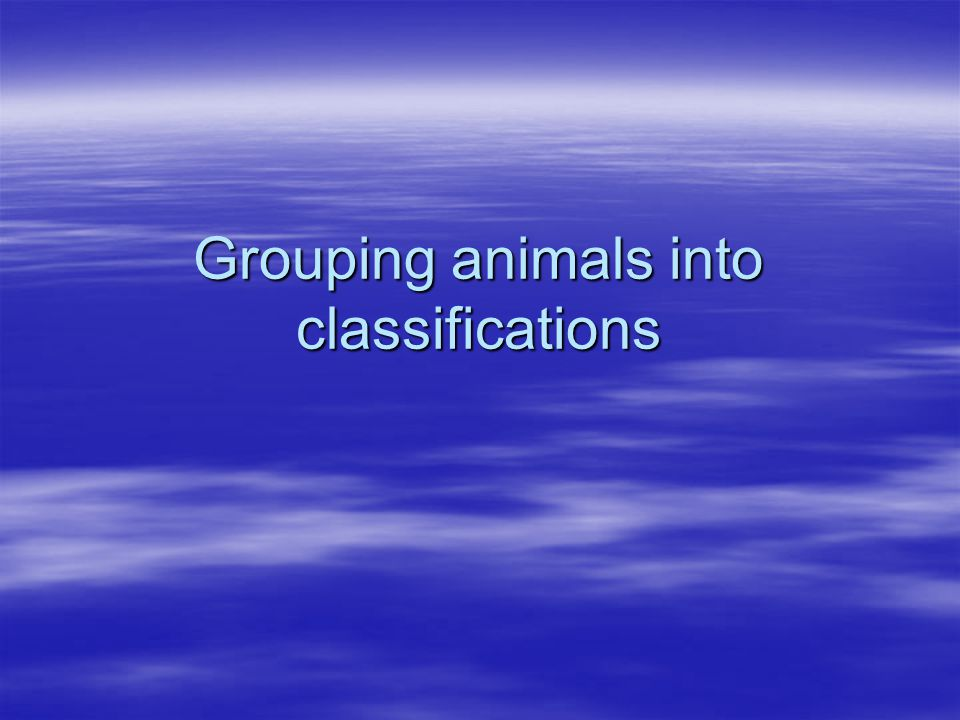Classification of Animals Using Concept Attainment Presented by: Deanna, Mary, Patrick, and Sara