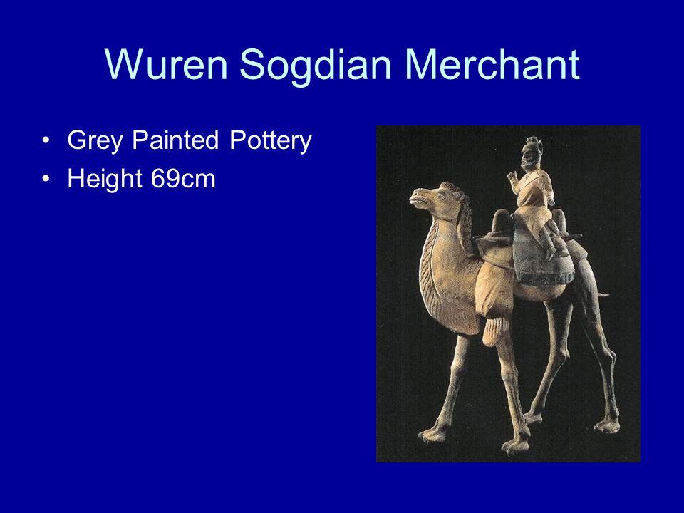 Wuren Sogdian Merchant Grey Painted Pottery Height 69cm
