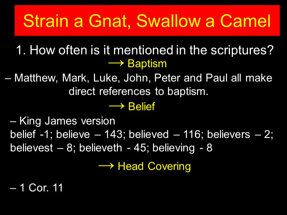 1. How often is it mentioned in the scriptures.