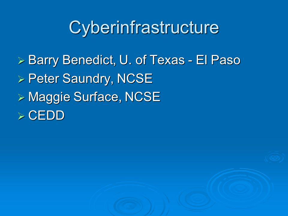 Cyberinfrastructure  Barry Benedict, U.