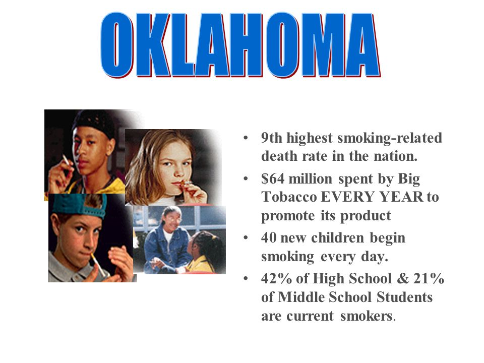 9th highest smoking-related death rate in the nation.