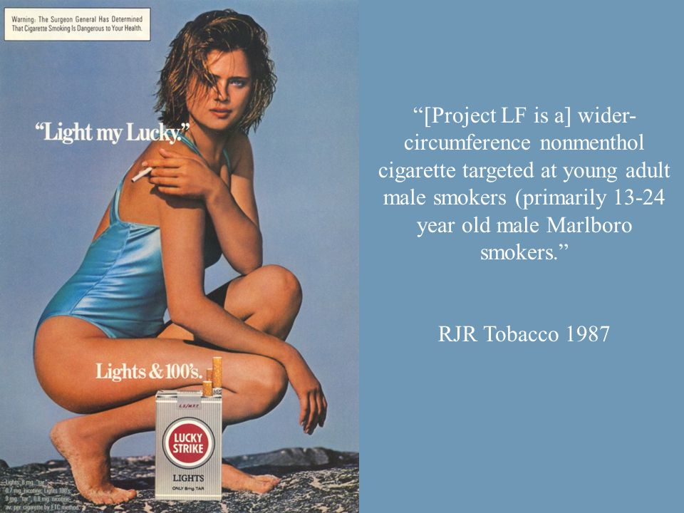 A study published in the Journal of the National Cancer Institute found that teens are more likely to be influenced to smoke by cigarette advertising than they are by peer pressure.