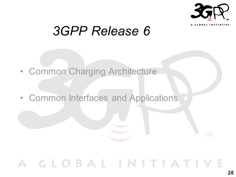 28 3GPP Release 6 Common Charging Architecture Common Interfaces and Applications