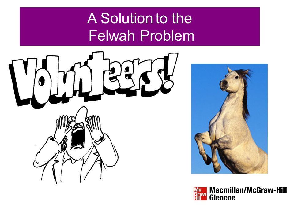 A Solution to the Felwah Problem
