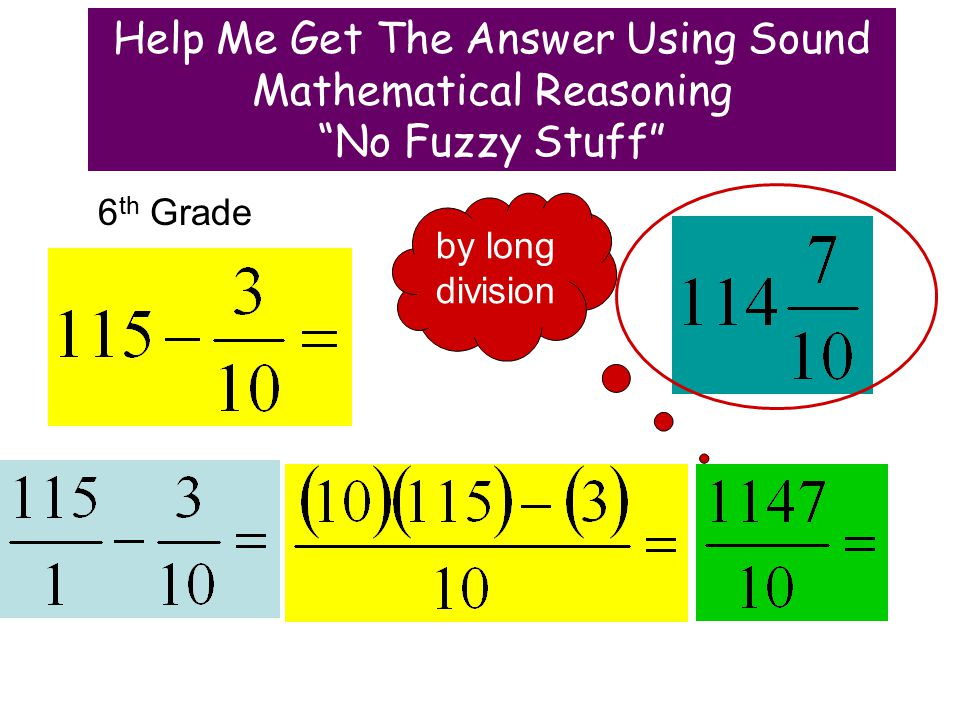6 th Grade by long division