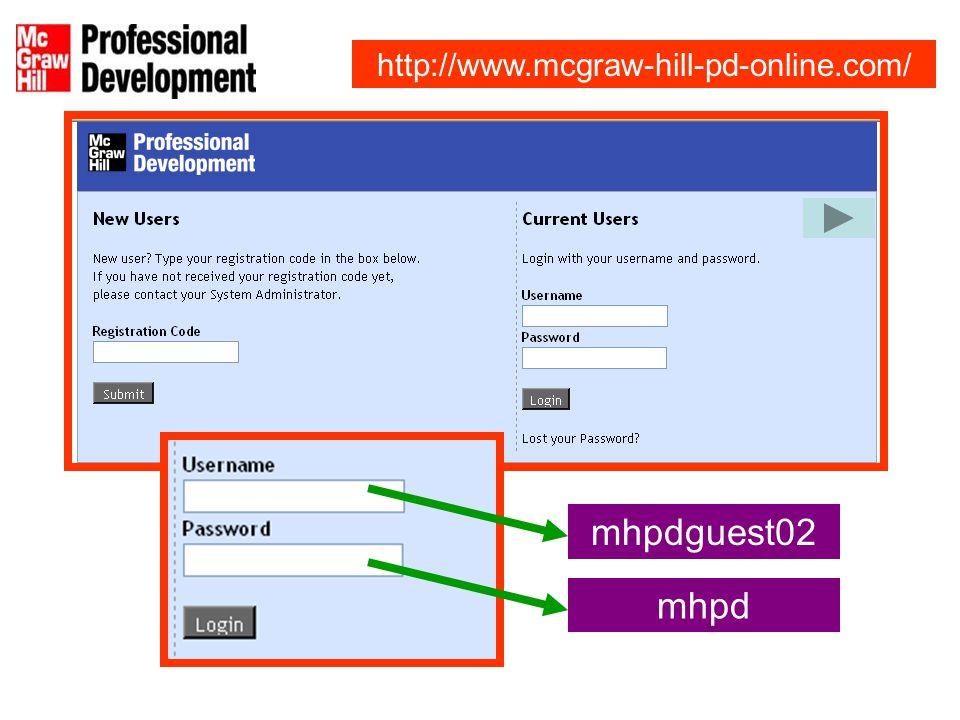 mhpdguest02 mhpd http://www.mcgraw-hill-pd-online.com/