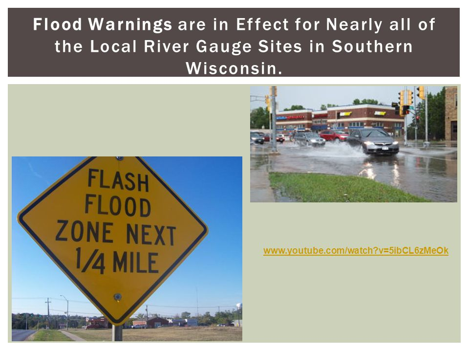 Flood Warnings are in Effect for Nearly all of the Local River Gauge Sites in Southern Wisconsin.