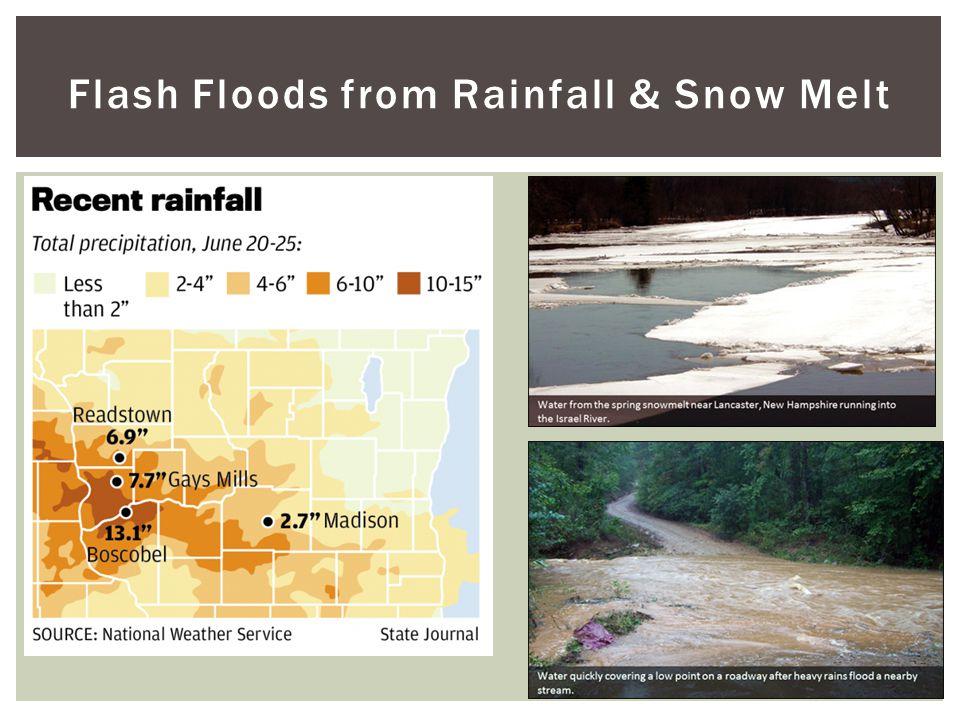 Flash Floods from Rainfall & Snow Melt