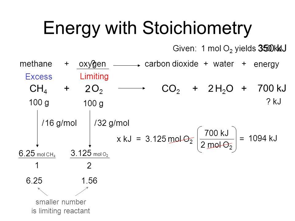 Energy with Stoichiometry Keys Energy with Stoichiometry