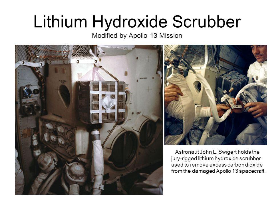 Lithium Hydroxide Scrubber Modified by Apollo 13 Mission Astronaut John L.