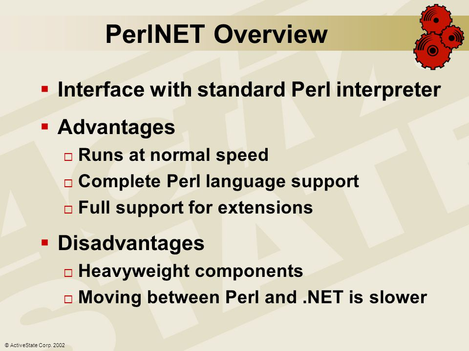 © ActiveState Corp. 2002 Native Perl for.NET compiler.