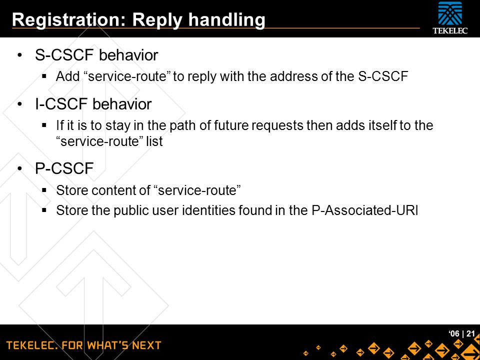"""Tekelec Confidential '06 