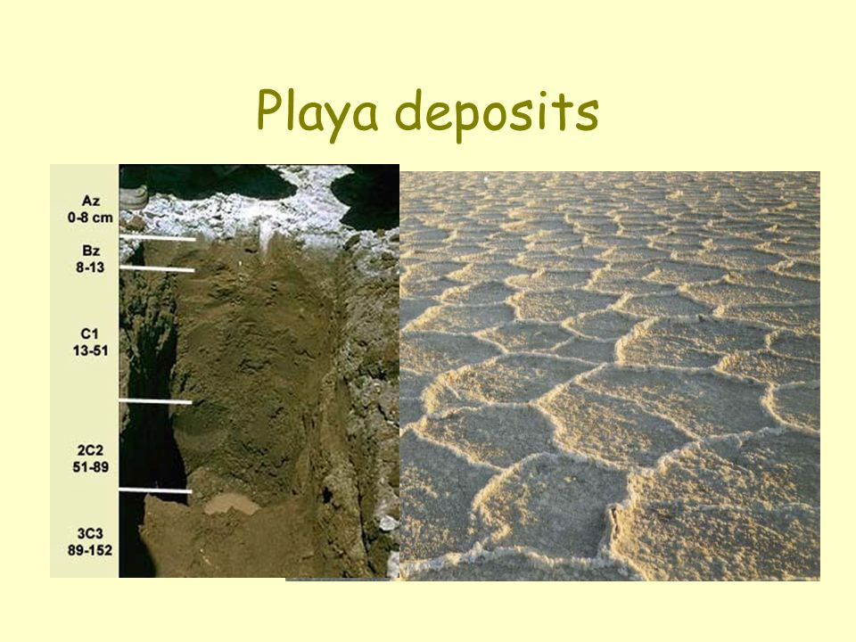 Playa deposits